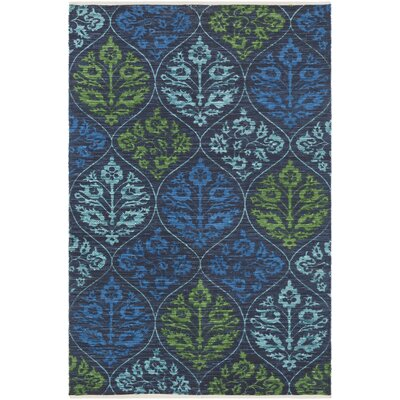 Deutsch Hand-Woven Blue Area Rug Rug Size: Rectangle 5 x 76