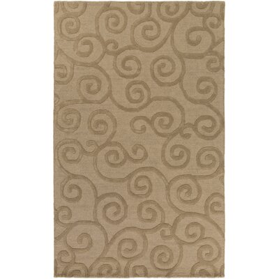 Alperton Hand-Tufted Camel Area Rug Rug Size: Rectangle 5 x 8