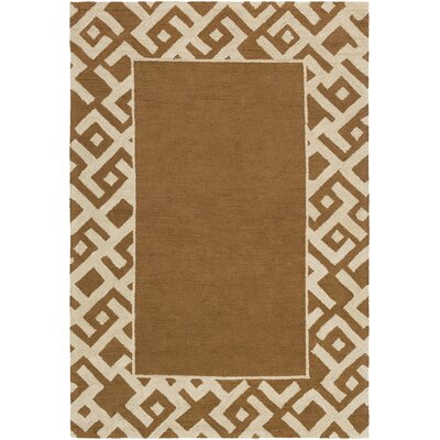 Judkins Hand-Tufted Taupe/Beige Area Rug Rug Size: Rectangle 5 x 76