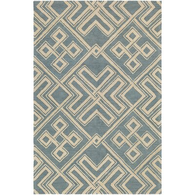 Joyal Hand-Tufted Light Blue/Beige Area Rug Rug Size: Rectangle 5 x 76