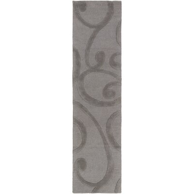 Poland Bailey Hand-Tufted Dark Gray Area Rug Rug Size: Runner 2 x 8
