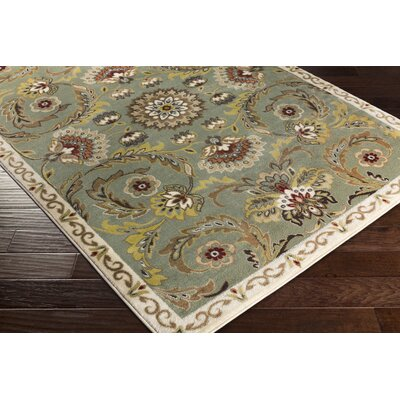 Dunnigan Green Area Rug Rug Size: Rectangle 710 x 103
