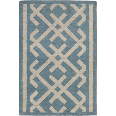 Levin Hand-Tufted Blue/Beige Area Rug Rug Size: Rectangle 5 x 76