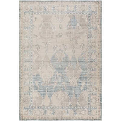 Kersh Blue Area Rug Rug Size: Runner 23 x 73