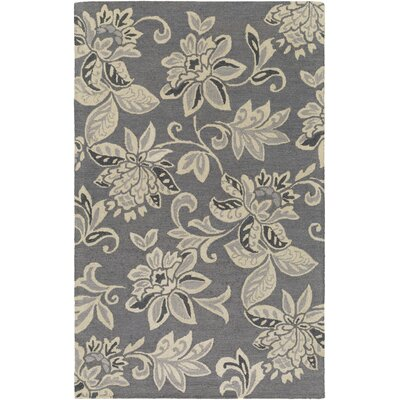 Rhodes Elsie Hand-Tufted Gray/Off-White Area Rug Rug Size: 9 x 13