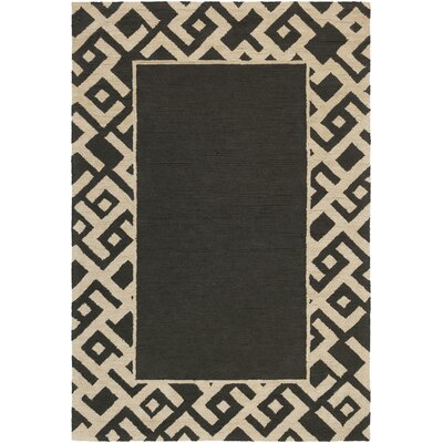 Judkins Hand-Tufted Black/Beige Area Rug Rug Size: Rectangle 2 x 3