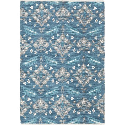 Dever Hand-Woven Blue Area Rug Rug Size: Rectangle 4 x 6