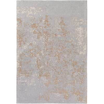 Detrick Silver/Camel Area Rug Rug Size: Rectangle 5' x 7'6