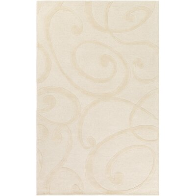Allegro Hand-Tufted Cream Area Rug Rug Size: Rectangle 5 x 8