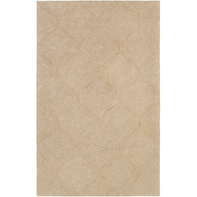 Bloch Hand-Tufted Beige Area Rug Rug Size: Rectangle 4 x 6