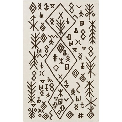 Litz Hand-Tufted Ivory Area Rug Rug Size: Rectangle 4 x 6