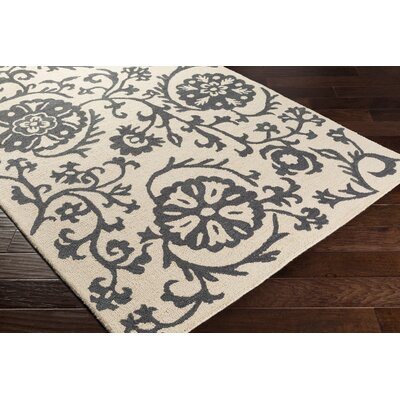 Rhodes Maggie Hand-Tufted Charcoal Gray/Off-White Area Rug Rug Size: Runner 2 x 8