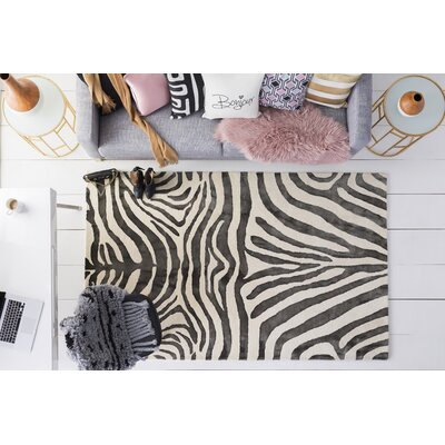 Petunia Hand Tufted Wool Black Area Rug Rug Size: 9 x 13