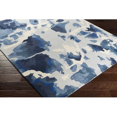 Geology Lillian Hand-Tufted Blue Area Rug Rug Size: 4 x 6