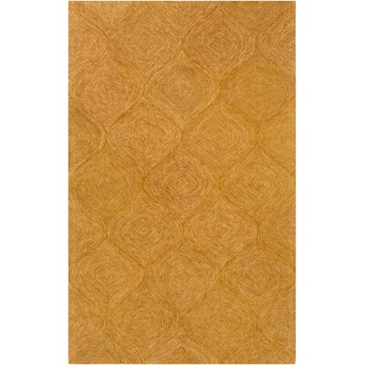 Bloch Hand-Tufted Orange Area Rug Rug Size: Rectangle 5 x 8