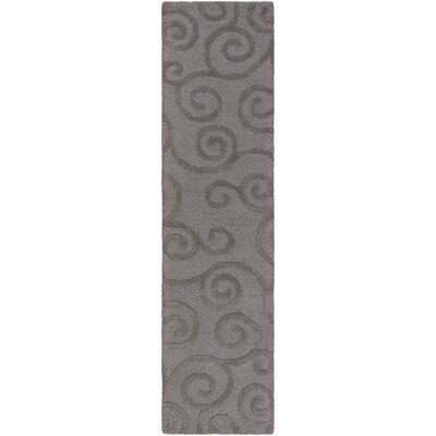 Alperton Hand-Tufted Gray Area Rug Rug Size: Runner 2' x 8'