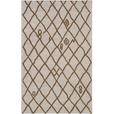 Juergens Hand-Tufted Taupe Area Rug Rug Size: Rectangle 4 x 6
