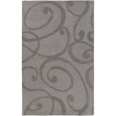 Poland Bailey Hand-Tufted Dark Gray Area Rug Rug Size: 5 x 8