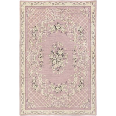 Kiger Pink Area Rug Rug Size: Rectangle 5 x 76