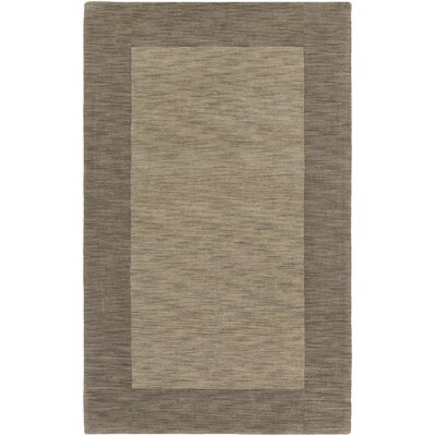 Allsopp Hand-Loomed Gold Area Rug Rug Size: Rectangle 5 x 8