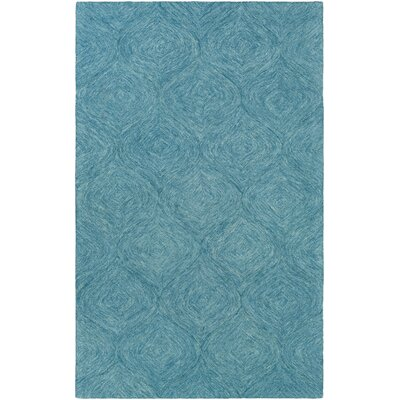 Bloch Hand-Tufted Turquoise Area Rug Rug Size: Rectangle 5 x 8