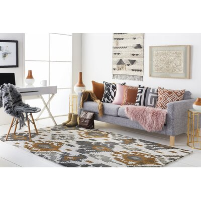 Geology Skylar Hand-Tufted Brown Area Rug Rug Size: 4 x 6