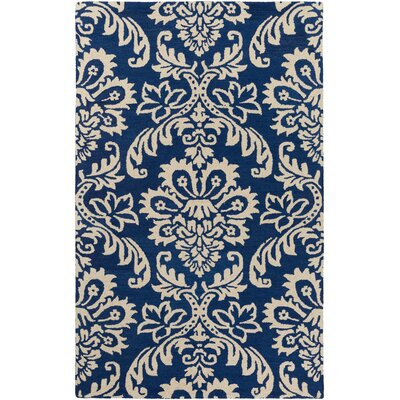 Kimberlin Hand-Tufted Blue Area Rug Rug Size: Rectangle 4 x 6