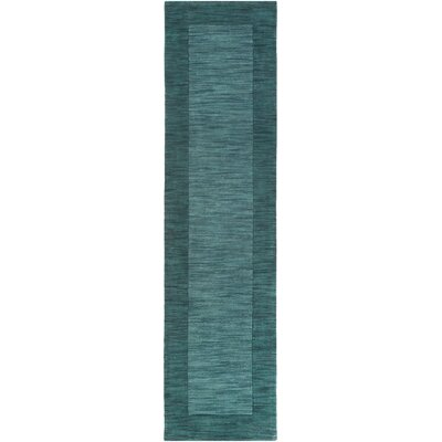 Piedmont Park Francis Handmade Green Area Rug Rug Size: Runner 2 x 8