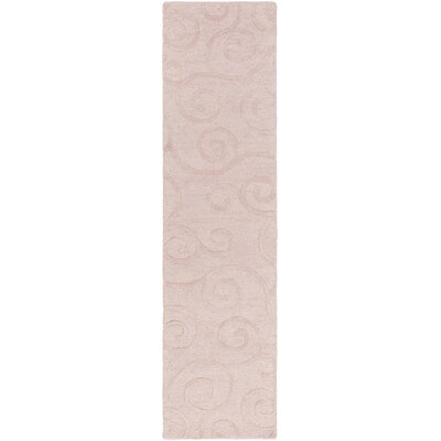 Allendale Hand-Tufted Light Pink Area Rug Rug Size: Runner 2' x 8'