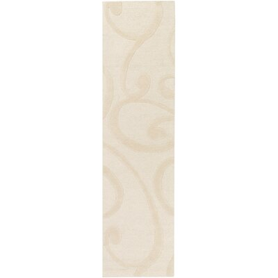 Poland Bailey Hand-Tufted Cream Area Rug Rug Size: Runner 2 x 8