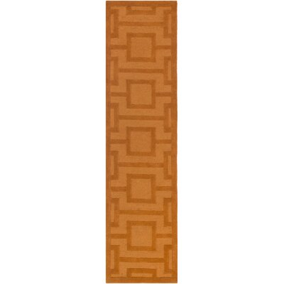 Poland Washington Hand-Tufted Tangerine Area Rug Rug Size: Runner 2 x 8