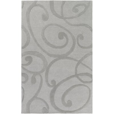 Allegro Hand-Tufted Silver Area Rug Rug Size: Rectangle 4 x 6