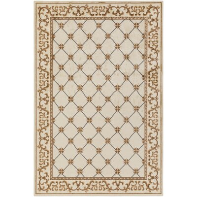 Pflugerville Ivory/Chocolate Area Rug Rug Size: Rectangle 4 x 6