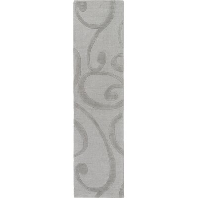 Poland Bailey Hand-Tufted Silver Area Rug Rug Size: Runner 2 x 8