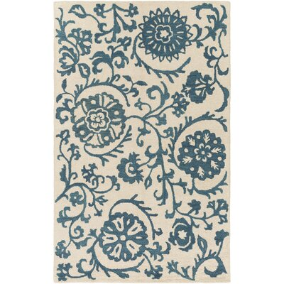 Aylor Hand-Tufted Blue Area Rug Rug Size: Rectangle 5 x 8