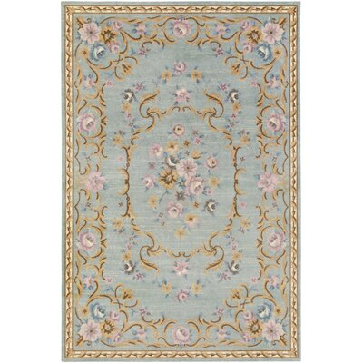 Piatt Blue Area Rug Rug Size: Rectangle 4 x 6