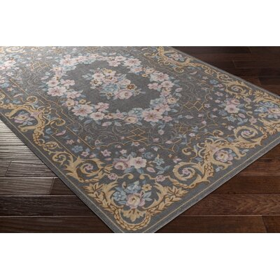 Picard Gray Area Rug Rug Size: Runner 26 x 8