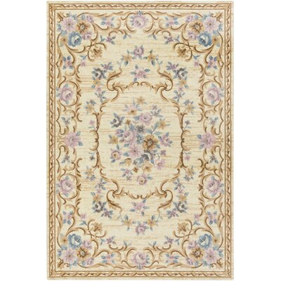 Pflugerville Ivory Area Rug Rug Size: Rectangle 5 x 76