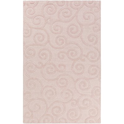 Allendale Hand-Tufted Light Pink Area Rug Rug Size: Rectangle 5 x 8