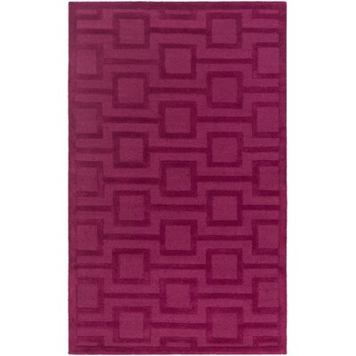 Poland Washington Hand-Tufted Rasberry Area Rug Rug Size: 9 x 13