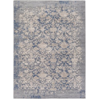 Kimbrel Hand-Woven Blue/Gray Area Rug Rug Size: Rectangle 711 x 103