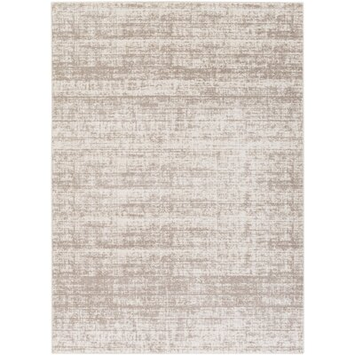 Zellmer Hand-Woven Taupe/Ivory Area Rug Rug Size: Rectangle 711 x 103