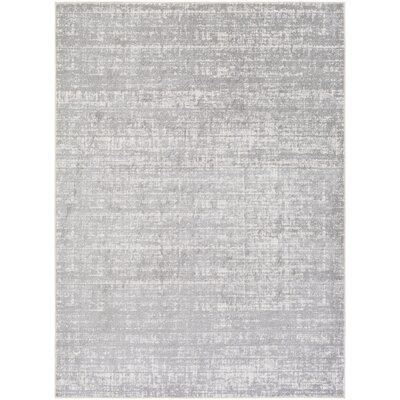 Zellmer Hand-Woven Gray/Ivory Area Rug Rug Size: Rectangle 711 x 103