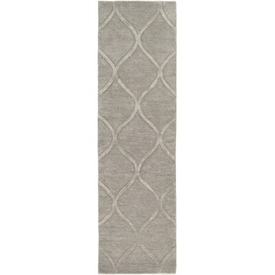 Massey Hand-Tufted Light Gray Area Rug Rug Size: Runner 23 x 14