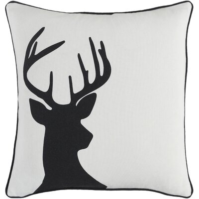 Holiday Deer Cotton Throw Pillow