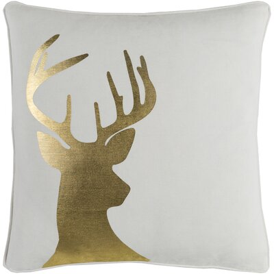 Holiday Deer Cotton Pillow Cover