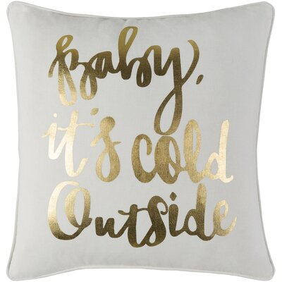 Holiday Winter Cotton Throw Pillow