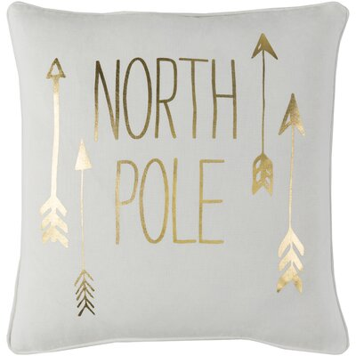 Holiday North Pole Throw Pillow Size: 18x18 Cover and Down Insert