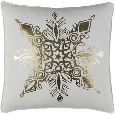 Holiday Snowflake Cotton Throw Pillow