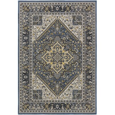 Pickerel Royal Blue/Light Yellow Area Rug Rug Size: Rectangle 22 x 3